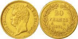 World Coins - Coin, France, Louis-Philippe, 20 Francs, 1831, Paris, EF(40-45), Gold, KM:746.1