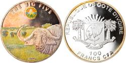 World Coins - Coin, Ivory Coast, Buffalo, 100 Francs CFA, 2010, Proof, , Silver