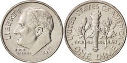 Us Coins - United States, Roosevelt Dime, Dime, 2006, Philadelphia, , KM 195a