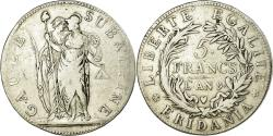 World Coins - Coin, ITALIAN STATES, PIEDMONT REPUBLIC, 5 Francs, AN 9, , Silver, KM:4