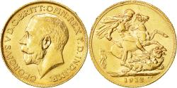 Ancient Coins - Coin, Great Britain, George V, Sovereign, 1912, AU(55-58), Gold, KM:820