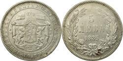 World Coins - Coin, Bulgaria, Alexander  I, 5 Leva, 1885, St. Petersburg, , Silver