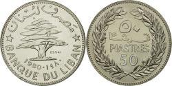 World Coins - Coin, Lebanon, 50 Piastres, 1980, Paris, ESSAI, , Nickel, KM:E14