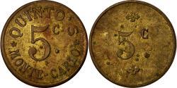 World Coins - Coin, Monaco, Quinto's - Monte-Carlo, 5 Centimes, , Brass
