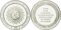 World Coins - France, Medal, Académie Française, History, , Silver