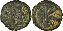 Ancient Coins - Coin, Justin II, Half Follis, 574-575, Constantinople, , Copper