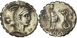 Ancient Coins - Coin, Roscia, Denarius Serratus, 64 BC, Rome, , Silver, Crawford:412/1