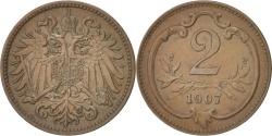 World Coins - Austria, Franz Joseph I, 2 Heller, 1907, , Bronze, KM:2801
