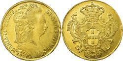 World Coins - Coin, Brazil, Maria I, 6400 Reis, 1801, Rio de Janeiro, , Gold