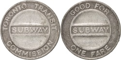 Us Coins - United States, Token, Toronto Transit Subway Commission