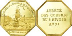 World Coins - France, Token, Chambre de Commerce du Havre, , Gold