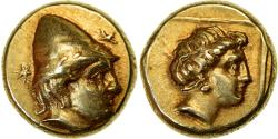 Ancient Coins - Coin, Lesbos, Mytilene, Hekte, 377-326 BC, , Electrum, HGC:6-1025