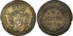 World Coins - Coin, ITALIAN STATES, CORSICA, General Pasquale Paoli, 4 Soldi, 1764, Murato