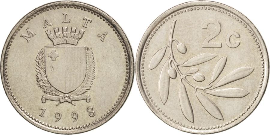 World Coins - Malta, 2 Cents, 1998, , Copper-nickel, KM:94