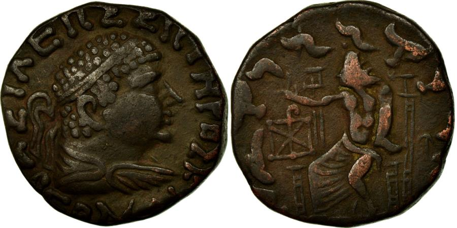 Ancient Coins - Coin, Baktrian Kingdom, Hermaios, Tetradrachm, , Bronze