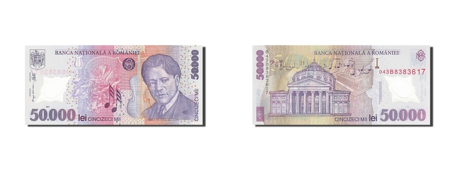 World Coins - Romania, 50,000 Lei, 2000-2001, 2001, KM:113a, UNC(65-70)