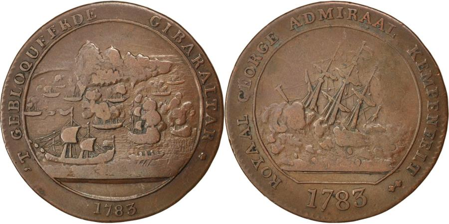 World Coins - France, Token, Bataille de Gibraltar, Naufrage du Royal Georges, 1783