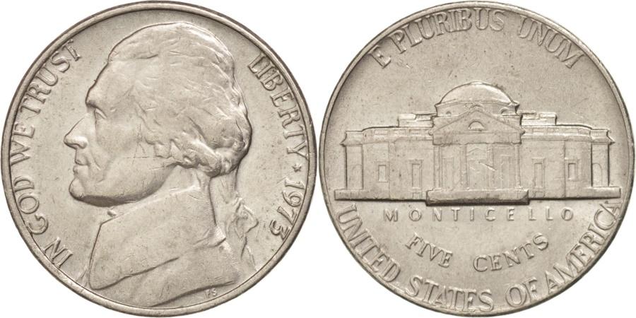 US Coins - UNITED STATES, Jefferson Nickel, 5 Cents, 1973, U.S. Mint, KM #A192, ,.