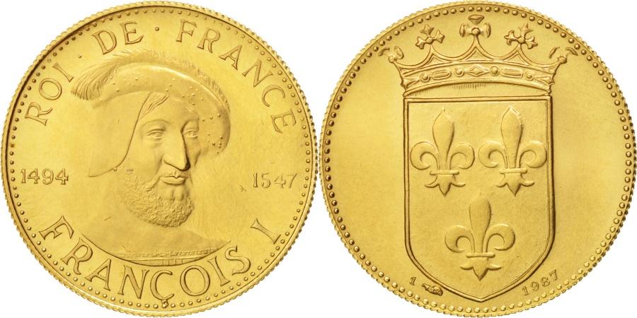 World Coins - France, Medal, Roi de France, François Ier, History, , Gold