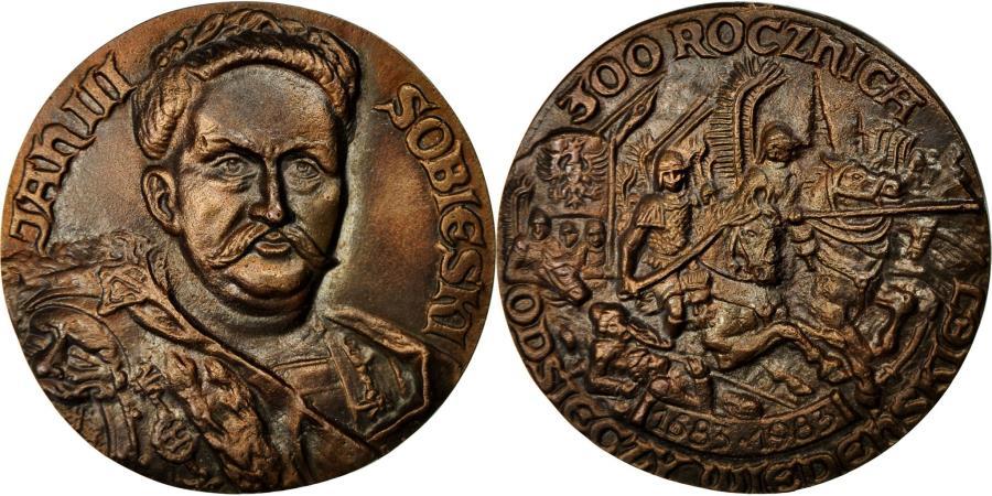 World Coins - Poland, Medal, Jean III Sobieski, Bataille de Vienne (1683), 1983,