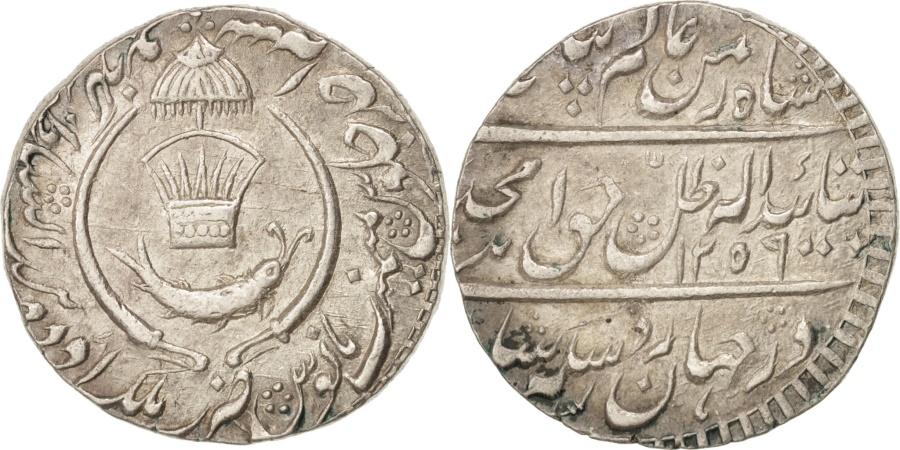 World Coins - INDIA-PRINCELY STATES, AWADH, Amjad Ali Shah, Rupee, 1843, KM:336