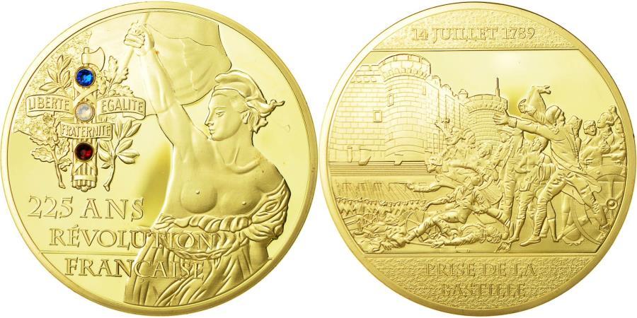 US Coins - France, Medal, 225 Ans de la Révolution Française, Prise de la Bastille
