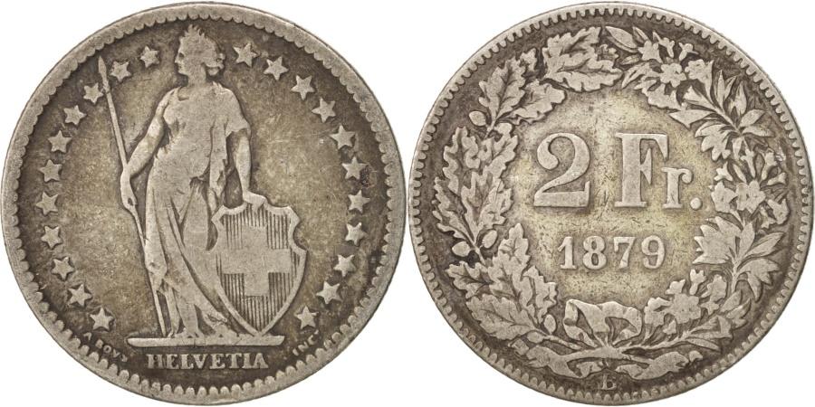 World Coins - Switzerland, 2 Francs, 1879, Bern, , Silver, KM:21