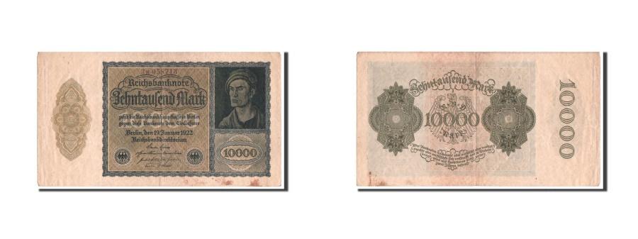 World Coins - Germany, 10,000 Mark, 1922, KM #72, VF(20-25), 3M058713