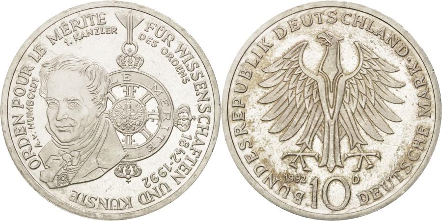 World Coins - GERMANY - FEDERAL REPUBLIC, 10 Mark, 1992, Munich, Germany, , KM:179