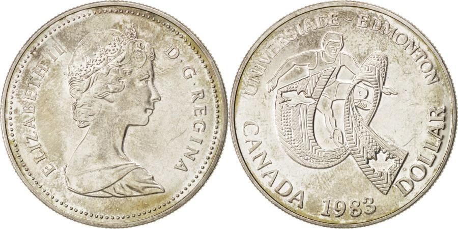 World Coins - CANADA, Dollar, 1983, Royal Canadian Mint, KM #138, , Silver, 36, 23.85