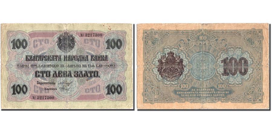 World Coins - Banknote, Bulgaria, 100 Leva Zlato, 1916, 1916, KM:20a, VF(30-35)