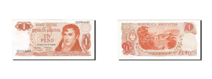 World Coins - Argentina, 1 Peso, 1973-1976, KM:293, Undated (1974), AU(55-58)