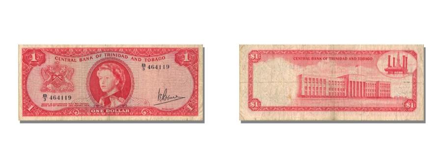 World Coins - Trinidad and Tobago, 1 Dollar, 1964, KM #26c, AU(50-53), B/3