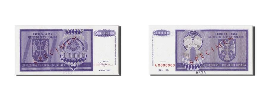 World Coins - Croatia, 5 Milliard Dinara, 1993, Undated, KM:R18s, UNC(65-70), A0000000