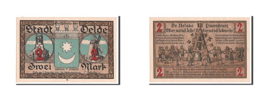 World Coins - Germany, Oelde Stadt, 2 Mark, 1920, UNC(63), Mehl #1007.1