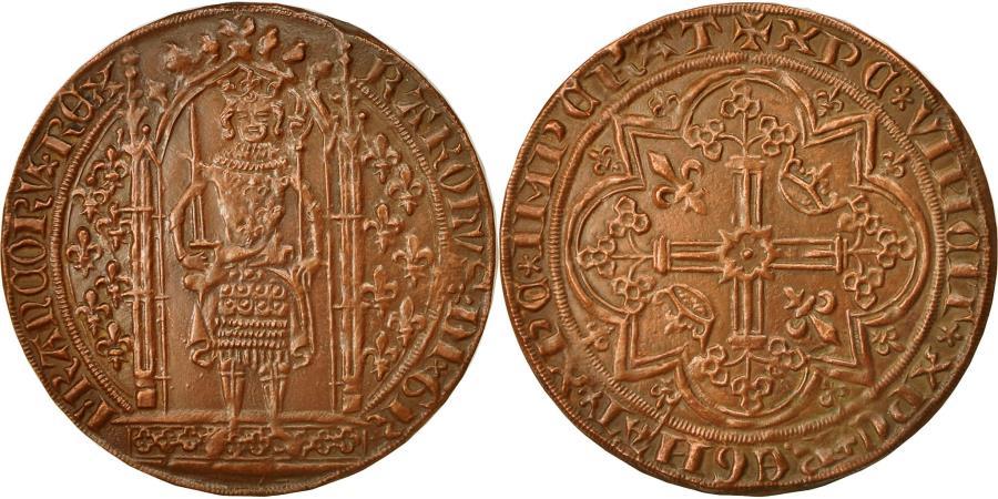 World Coins - France, Medal, Reproduction du Franc à Pied, Charles V, 1968, , Copper