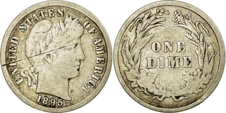 US Coins - Coin, United States, Barber Dime, Dime, 1895, U.S. Mint, Philadelphia,