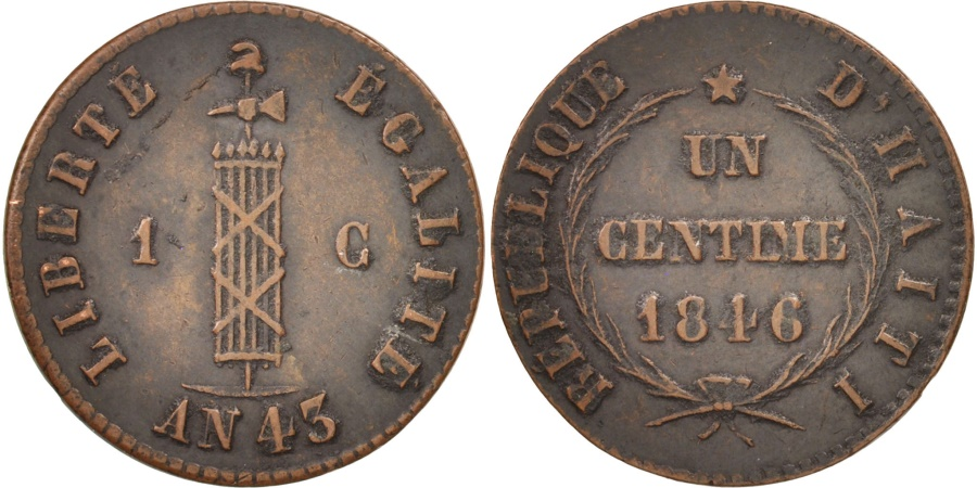 World Coins - Haiti, Centime, 1846, , Copper, KM:24