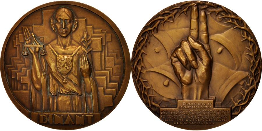 World Coins - France, Dinant, History, Medal, , Bronze, 69