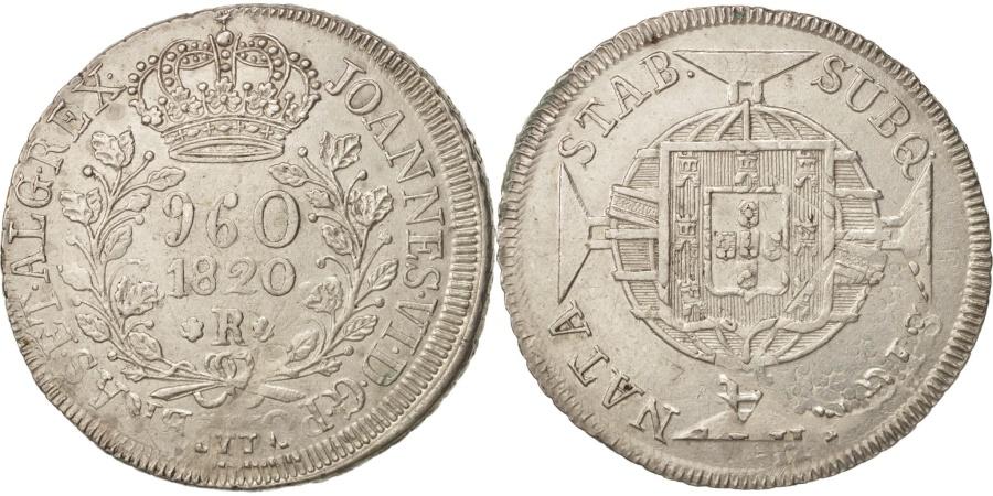 World Coins - Brazil, 960 Reis, 1820, Silver, KM:326.1