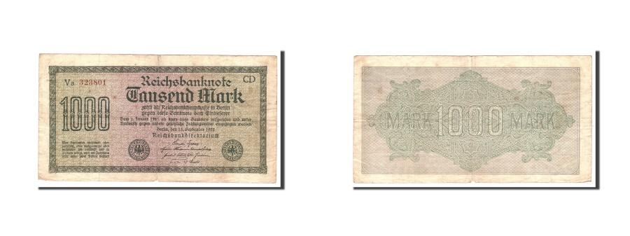 World Coins - Germany, 1000 Mark, 1922, KM:76e, 1922-09-15, VF(20-25), Va323801