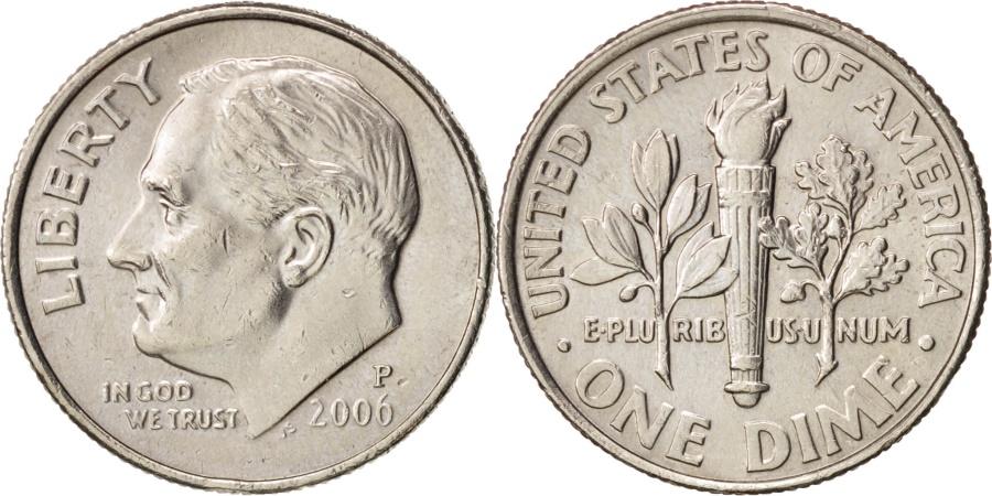 US Coins - United States, Roosevelt Dime, Dime, 2006, Philadelphia, , KM 195a