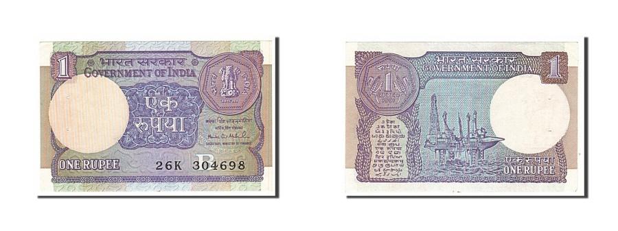 World Coins - India, 1 Rupee, 1983, KM #78Ad, AU(50-53), 26K304698