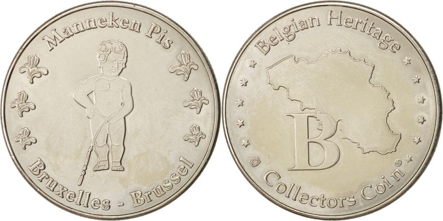 World Coins - Belgium, Tourist Token, Manneken Pis,Bruxelles, Undated, ,Belgian Heritage