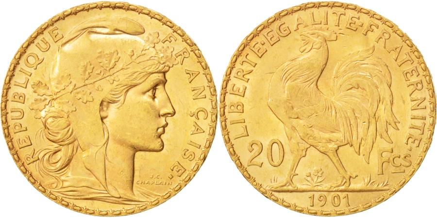 World Coins - France, Marianne, 20 Francs, 1901, Paris, , Gold, KM:847, Gadoury:1064