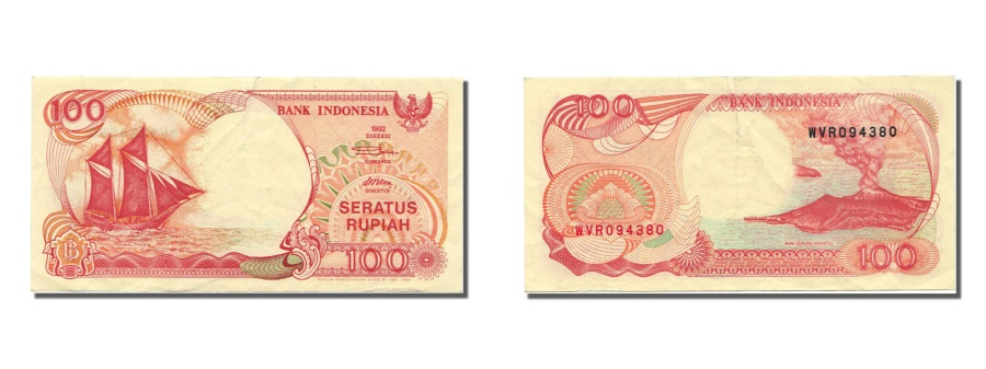 World Coins - Indonesia, 100 Rupiah, 1992, KM #127a, UNC(63), WVR