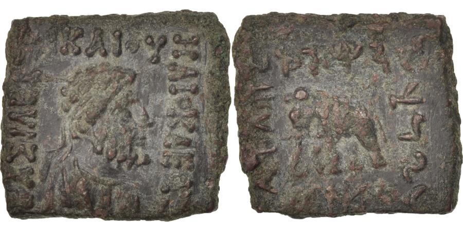 Ancient Coins - Baktria, Heliokles II, Quadruple Unit, 90-75 BC, Bronze, SNG ANS:1152