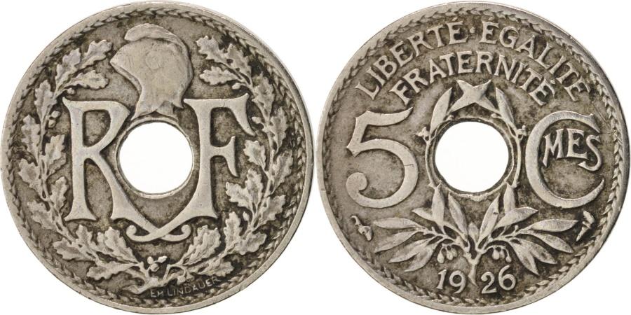 World Coins - France, Lindauer, 5 Centimes, 1926, , Copper-nickel, KM:875,Gadoury 170