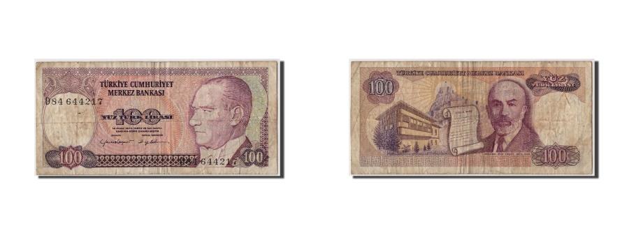 World Coins - Turkey, 100 Lira, KM #194a, F(12-15), D84 644217
