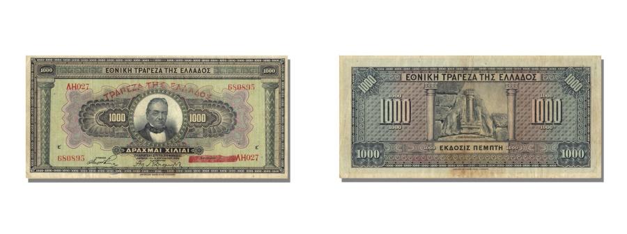 World Coins - Greece, 1000 Drachmai, 1926, KM #100b, 1926-11-04, AU(55-58), AH027